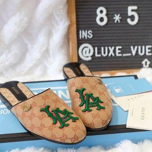 Gucci La Angels Gg Logo LA Mules Sandal Size 39